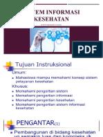Sistem Informasi Kesehatan I