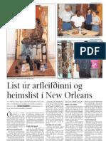 List úr arfleifðinni og heimslist í New Orleans (a)