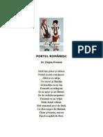 Portul românesc poezie