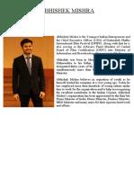 DPIFF CEO Abhishek Mishra Profile