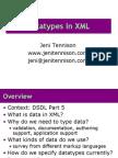 DatatypesInXML
