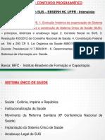 Apostila Legislação Aplicada ao SUS - EBSERH HC UFPR - Intensivão Aulas 01 a 06
