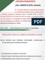 Apostila Legislação Aplicada ao SUS - EBSERH HC UFPR - Intensivão Aulas 11 a 16