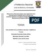 EFICACIA DE LA HOMOTOXICOLOGIA EN LA ONICOMICOSIS1