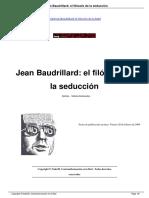 Jean Baudrillard El Filosofo de La Seduccion