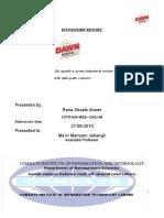 38292229 Dawn Bread Internship Report