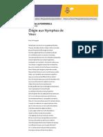 Élégie aux Nymphes de Vaux - Jean de LA FONTAINE - Vos poèmes - Poésie française - Tous les poèmes - Tous les poètes
