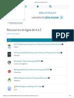 Ressources en ligne de A à Z