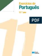 Exercícios de. Português. 11.º ano