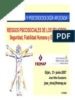 Ergonomía y Sicología Aplicada