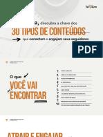 E-book 30 Tipos de Conteúdos - Para Conectar e Engajar seu Público