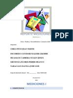 REPORTE MEDICIONES I