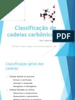 Classificação de cadeias carbônicas - SLIDE