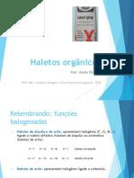 Haletos orgânicos - SLIDES