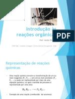 Introdução às reações orgânicas - SLIDES