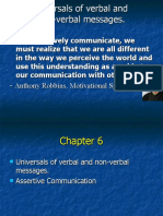 Verbal and non-verbal messages