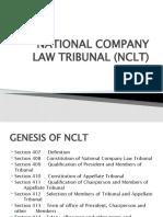 NATIONAL COMPANY LAW TRIBUNAL (NCLT) - Copy