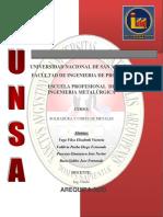 INFORME de Recuperacion de piezas por soldadura( PACCAYA ZINANYUCA NESTOR)