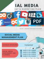 Social Media Management & Marketing Plan