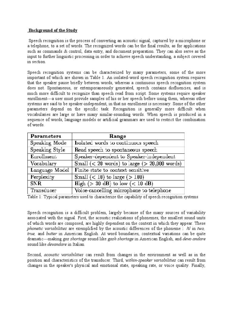 documentation elective2 proj  | Speech Recognition | Technology
