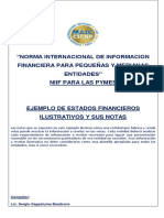 Ejemplo de Notas a los Estados Financieros 11 2020