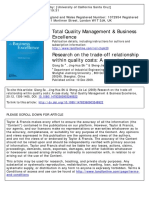 24-A Research of Trade of Relation With in Quality Cost
