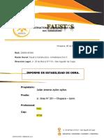 INFORME TECNICO DE OBRA -JULIAN ANTONIO AYLLON AYLLON