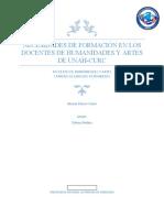 NECESIDADES DE FORMACIÓN EN LOS DOCENTES DE HUMANIDADES Y ARTES  DE UNAH-CURC