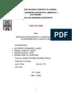 SERVICIOS ECOSISTEMICOS EN LAGO DE JUNIN
