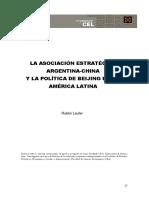 LAUFER R. (2019). La asociación estratégica Arg.-China en el marco latinoamericano.pdf