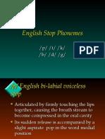 LING-09  English Stops and Fricatives  rev2-3-2011
