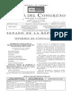 Revisión Proyecto de ley - Libertad testamentaria, texto en conciliación Cámara y Senado