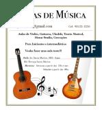 Folder Aula Musica
