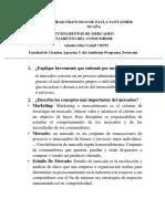 TALLER FUNDAMENTOS DE MERCADEO COMPORTAMIENTO DEL CONSUMIDOR adanies