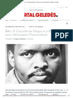 Biko_ a Consciência Negra e a Busca de Uma Verdadeira Humanidade - Geledés