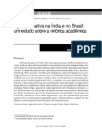 Ação Afirmativa Na Índia e No Brasil