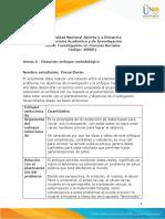 Anexo 5 - Resumen enfoque metodológico