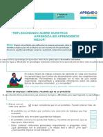 FICHA DE AUTOAPRENDIZAJE MATEMÁTICA -SESION EVALUACIÓN TERCER GRADO