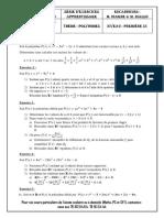 Serie Polynômes Apprentissage 1S1 renf