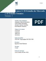 Grupo #3_I Avance_Estudio de Mercado y Estudio Tecnico_Tarea2.1_S2