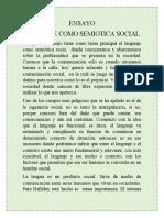 Ensayo Leguaje como semiotica social - Cristian Ortega.docx