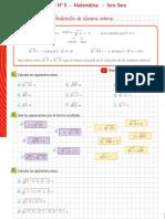 matemática radicación en Z