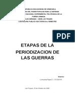 etapas de la periodizacion