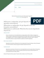 De Vries, Rios, D., Vázquez, R., Wietse. (2013). Millonarios o malparados de qué depende el éxito de los egresados universitarios