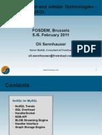 NoSQL for MySQL
