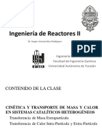 5. Cinética y Transporte en Sistemas Catalíticos Heterogéneos - Transporte Extrapartícula - p1