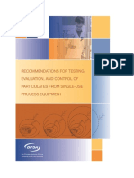 BPSA 2014 Recommendations for Testing, Evaluation, and Control of Particulates from Single-Use Process Equipment