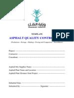 Asphalt Quality Control Plan