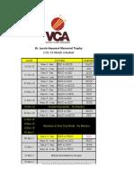 2010-11 VCA League Schedule (Tet Revised)