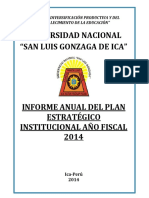 INFORME ANUAL ANO FISCAL 2014